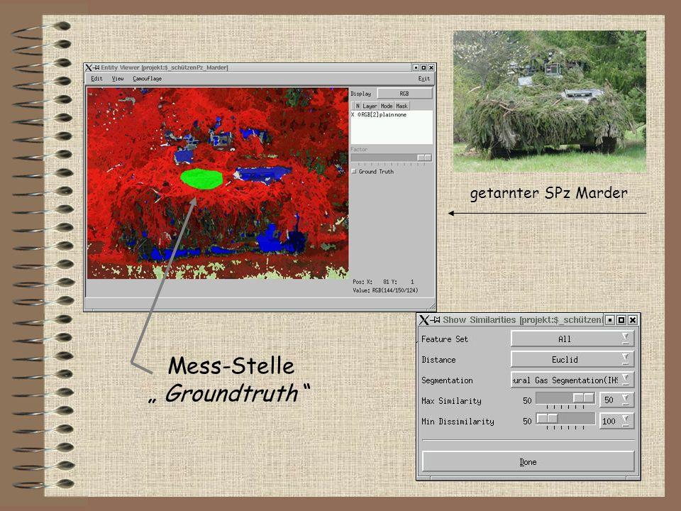 getarnter SPz Marder Mess-Stelle Groundtruth