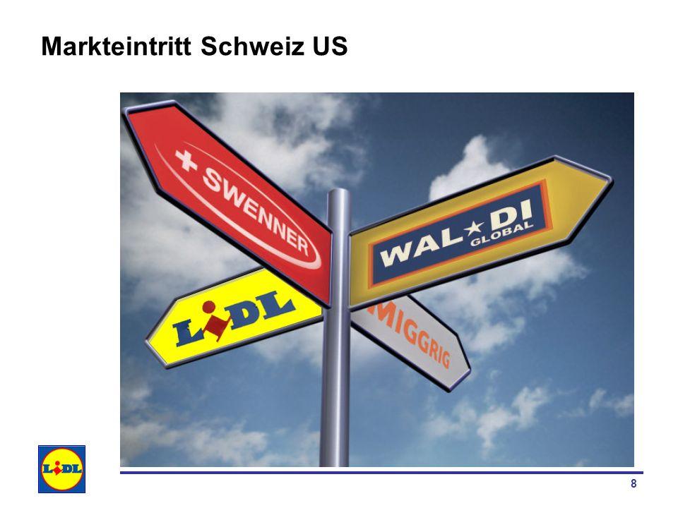 19 Unternehmensnetzwerk US Unternehmensnetzwerk für Lidl Schweiz aus Sicht Supply Chain Überprüfung hinsichtlich Kohärenz mit der definierten SCM Strategie und der identifizierten Unternehmensstrategie