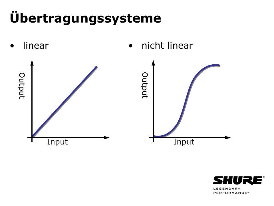 linear nicht linear Input Output