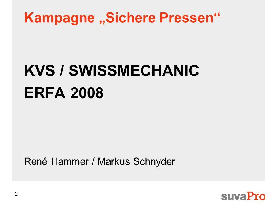 2 KVS / SWISSMECHANIC ERFA 2008 René Hammer / Markus Schnyder