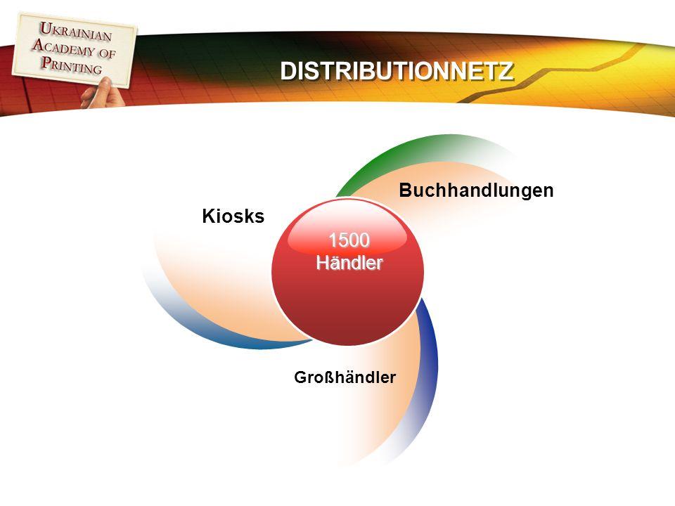 DISTRIBUTIONNETZ 1500Händler Kiosks Buchhandlungen Großhändler