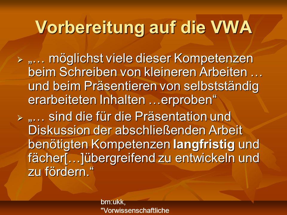 VWA Themenfindung (7.