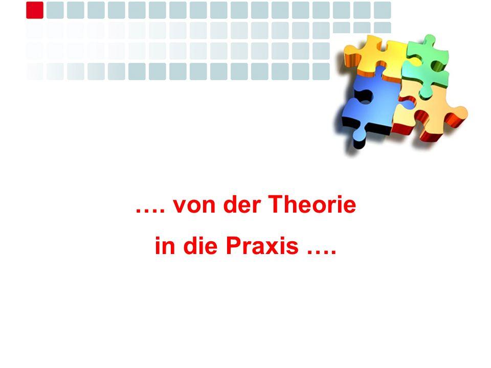 …. von der Theorie in die Praxis ….