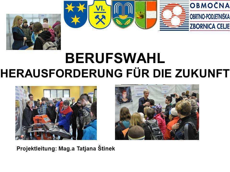 BERUFSWAHL HERAUSFORDERUNG FÜR DIE ZUKUNFT Projektleitung: Mag.a Tatjana Štinek