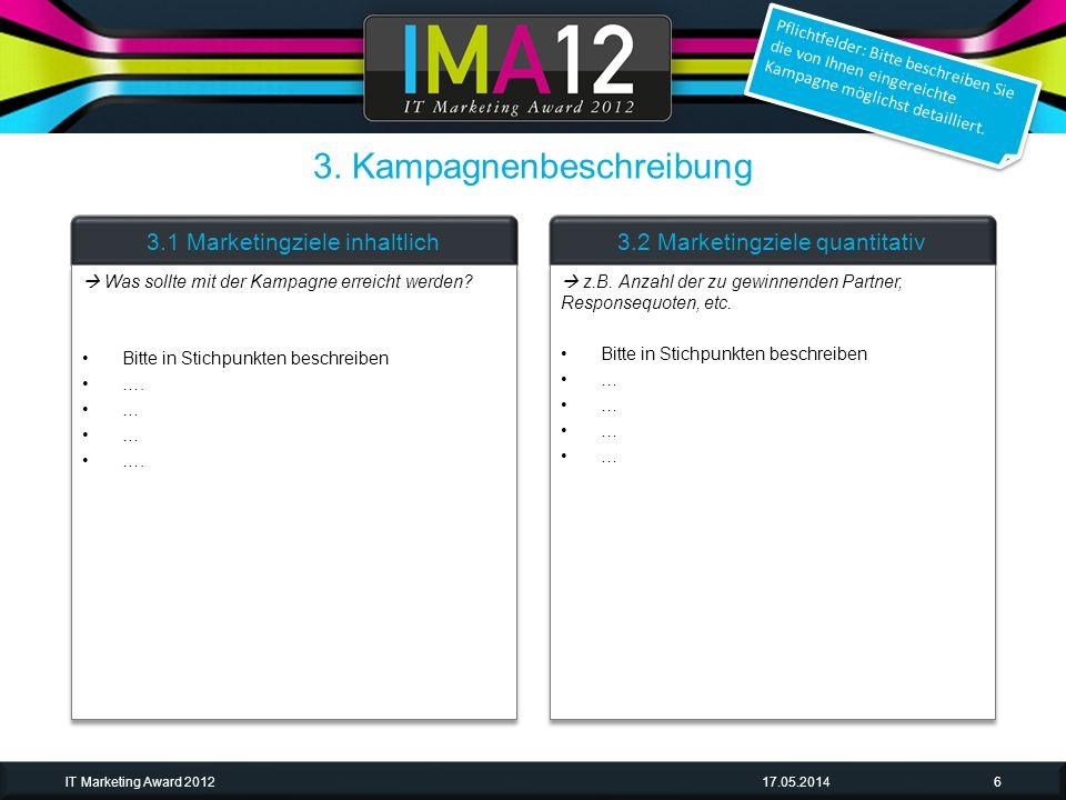 17.05.2014IT Marketing Award 201217 Beispiel & Screenshot für Video Rechts ggf.