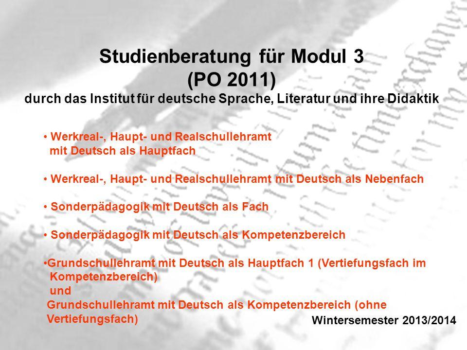 Worum geht es.Studium im Fach Deutsch im Modul 3 0.