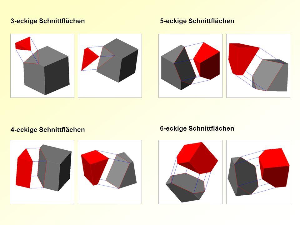 l 3-eckige Schnittflächen5-eckige Schnittflächen 4-eckige Schnittflächen 6-eckige Schnittflächen