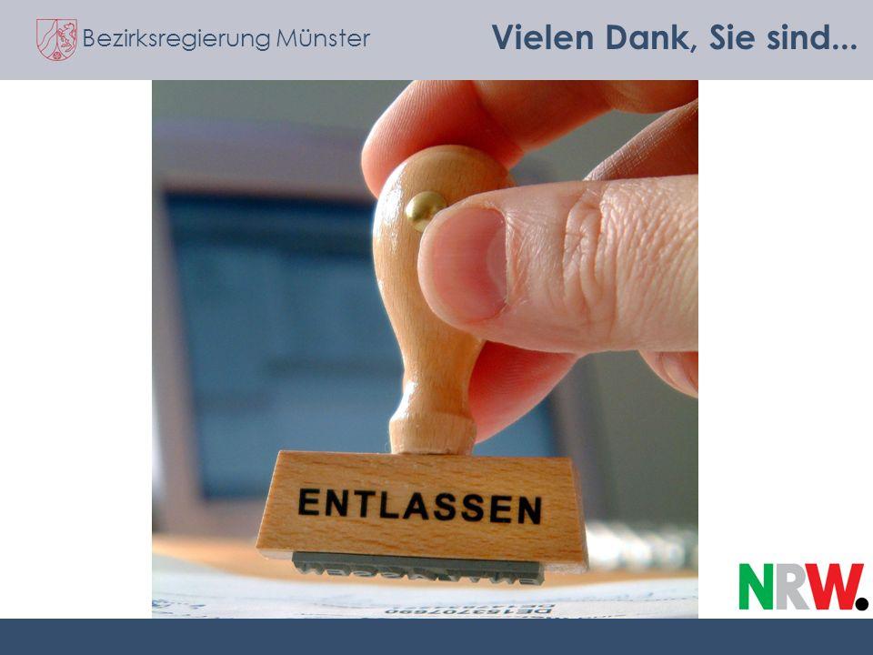 Bezirksregierung Münster Vielen Dank, Sie sind...