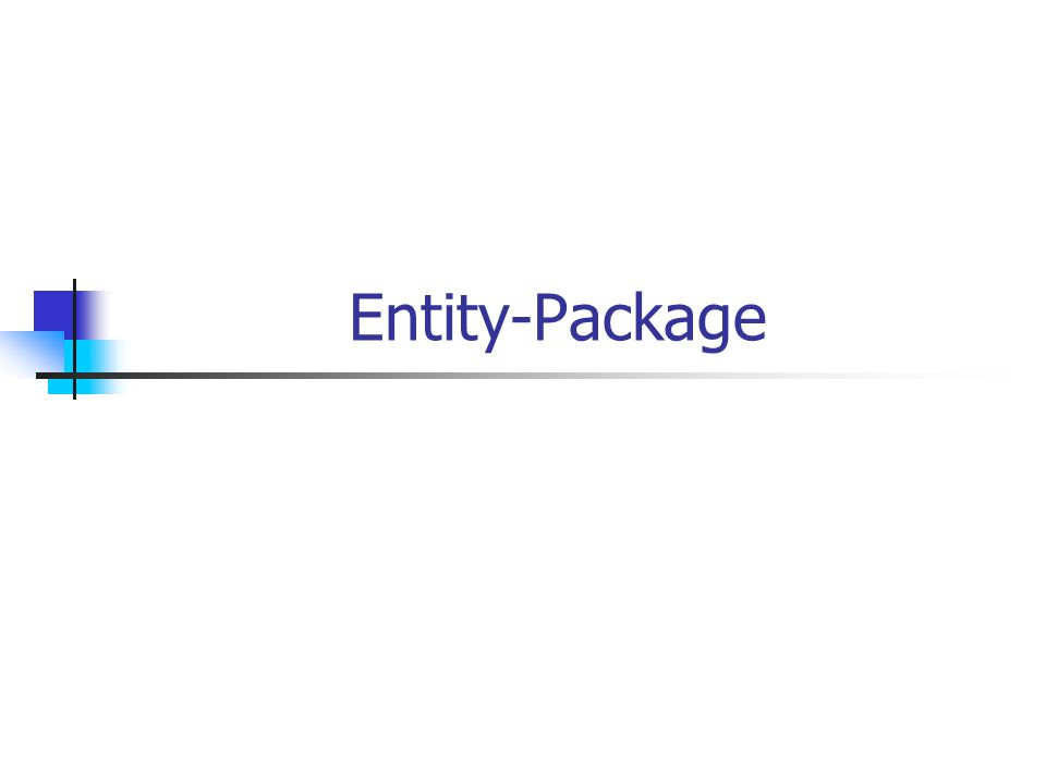 Entity-Package