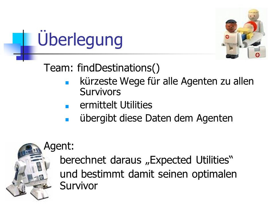 Berechnung Expected Utility = Probability x Utility P..