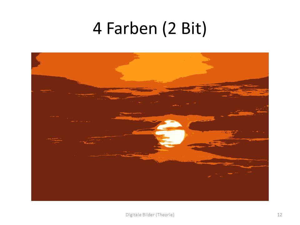 4 Farben (2 Bit) 12Digitale Bilder (Theorie)