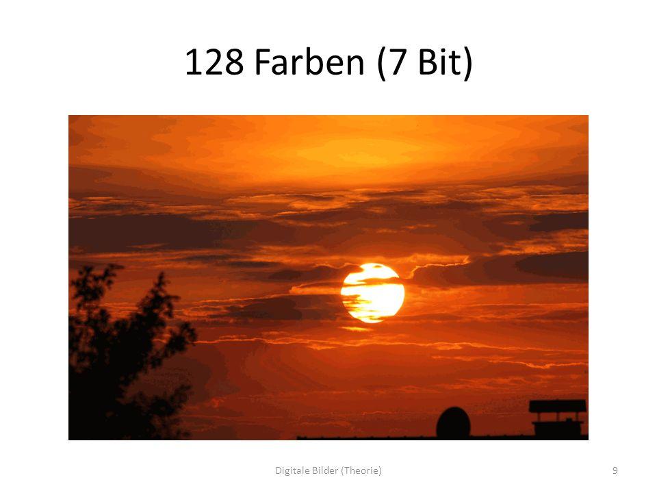16 Farben (4 Bit) 10Digitale Bilder (Theorie)