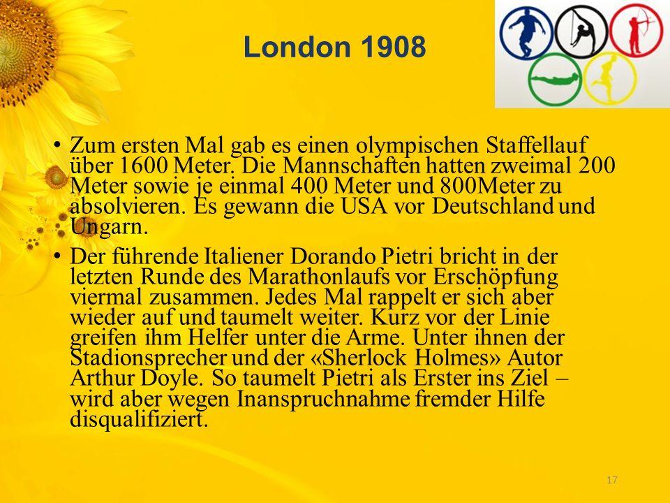 St. Louis 1904 Zum ersten Mal werden die drei Medaillen vergeben, so wie wir es heute von den olympischen Spielen kennen: Gold, Silber und Bronze. Die