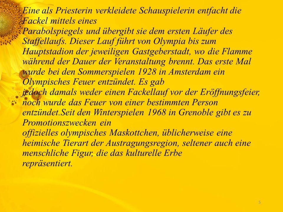 Die Olympische Bewegung verwendet mehrere Symbole, die durch die Olympische Charta festgelegt werden. Das bekannteste ist die Olympische Flagge mit de