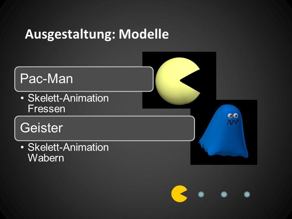 Ausgestaltung: Modelle Pac-Man Skelett-Animation Fressen Geister Skelett-Animation Wabern