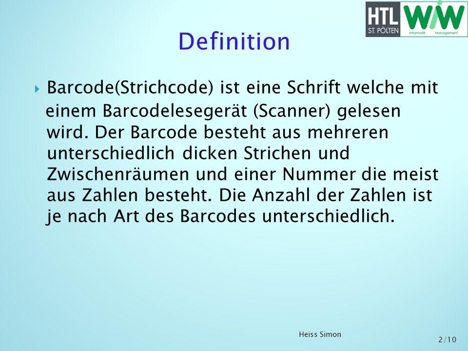 Barcode(Strichcode) ist eine Schrift welche mit einem Barcodelesegerät (Scanner) gelesen wird. Der Barcode besteht aus mehreren unterschiedlich dicken