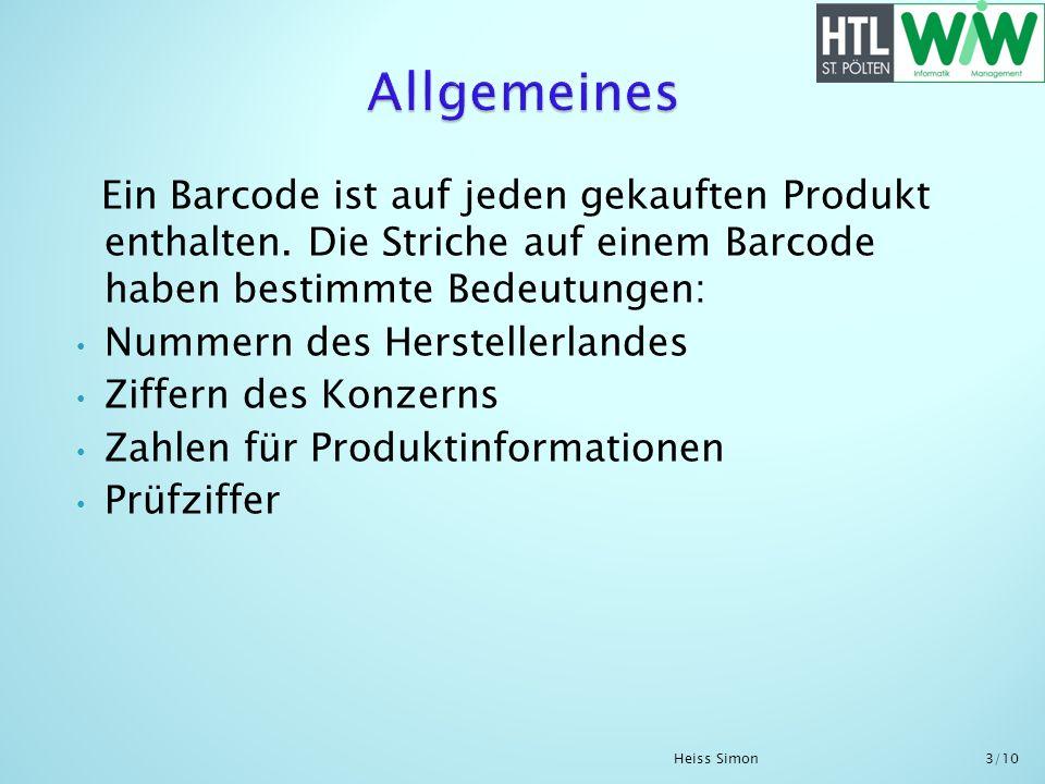 Ein Barcode ist auf jeden gekauften Produkt enthalten. Die Striche auf einem Barcode haben bestimmte Bedeutungen: Nummern des Herstellerlandes Ziffern