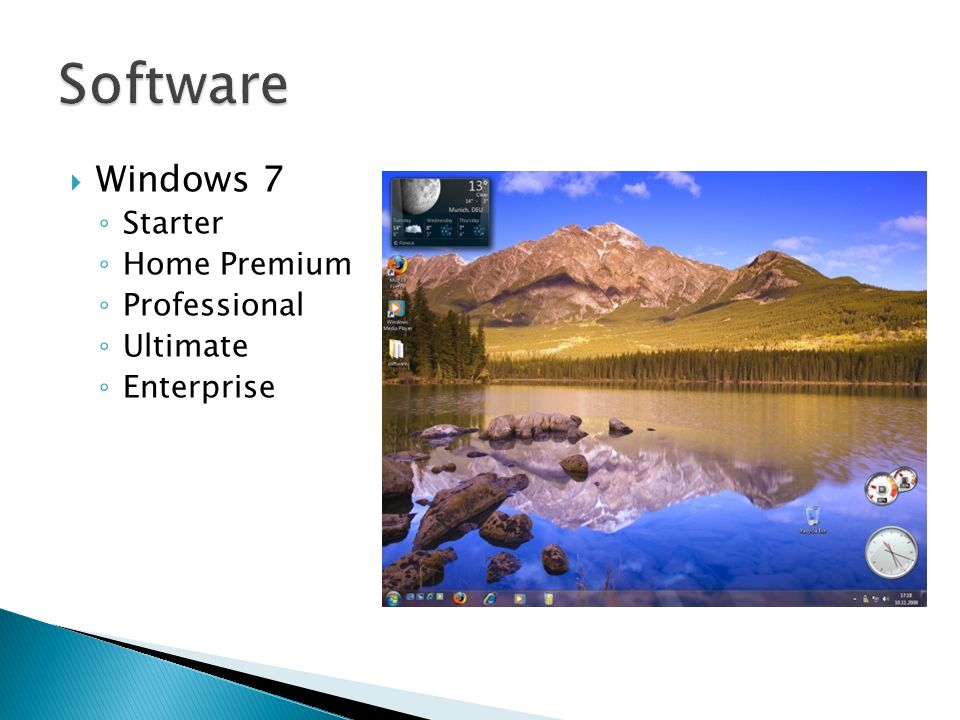 Windows 7 Starter Home Premium Professional Ultimate Enterprise