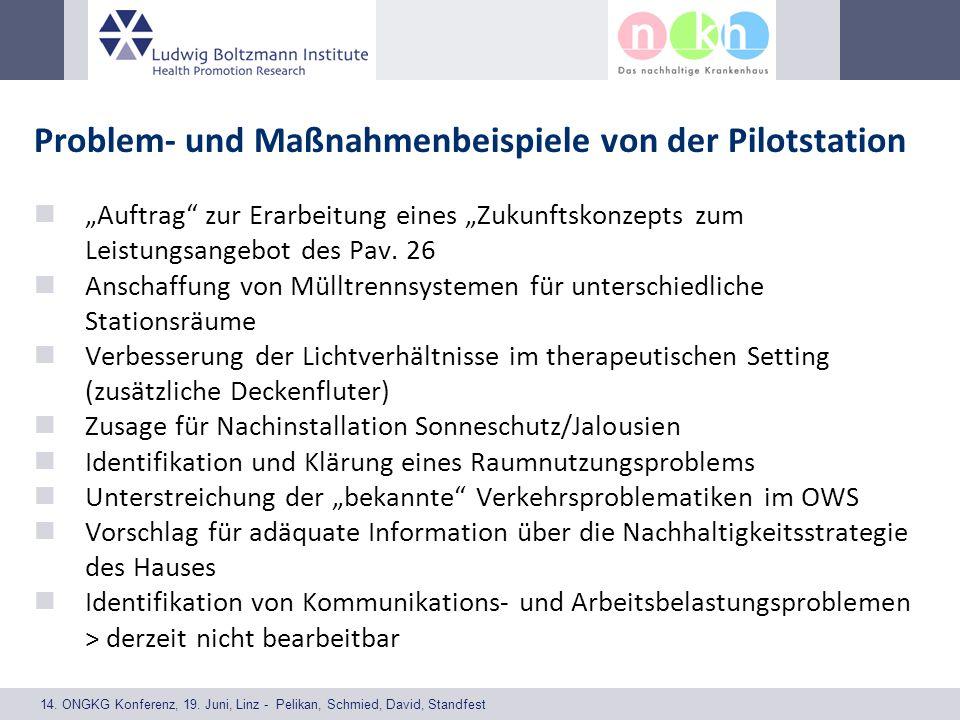 14. ONGKG Konferenz, 19. Juni, Linz - Pelikan, Schmied, David, Standfest Problem- und Maßnahmenbeispiele von der Pilotstation Auftrag zur Erarbeitung