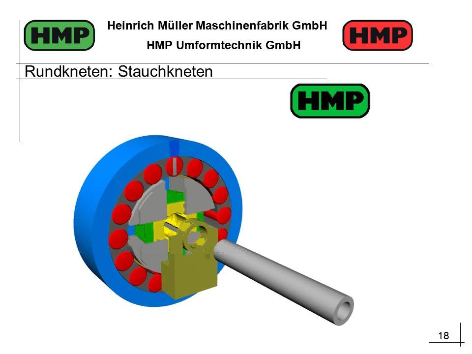 18 Heinrich Müller Maschinenfabrik GmbH HMP Umformtechnik GmbH 18 Heinrich Müller Maschinenfabrik GmbH HMP Umformtechnik GmbH Rundkneten: Stauchkneten