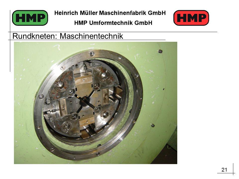 21 Heinrich Müller Maschinenfabrik GmbH HMP Umformtechnik GmbH 21 Heinrich Müller Maschinenfabrik GmbH HMP Umformtechnik GmbH Rundkneten: Maschinentechnik