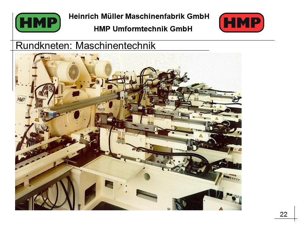 22 Heinrich Müller Maschinenfabrik GmbH HMP Umformtechnik GmbH 22 Heinrich Müller Maschinenfabrik GmbH HMP Umformtechnik GmbH Rundkneten: Maschinentechnik