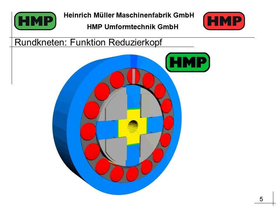 5 Heinrich Müller Maschinenfabrik GmbH HMP Umformtechnik GmbH 5 Heinrich Müller Maschinenfabrik GmbH HMP Umformtechnik GmbH Rundkneten: Funktion Reduzierkopf