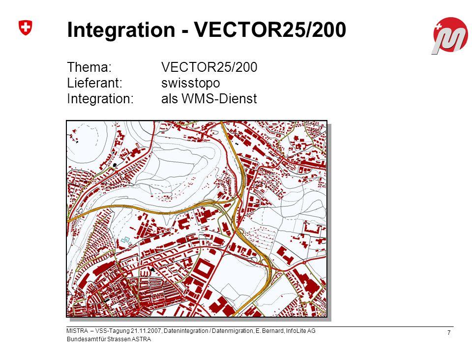Bundesamt für Strassen ASTRA MISTRA – VSS-Tagung 21.11.2007, Datenintegration / Datenmigration, E.