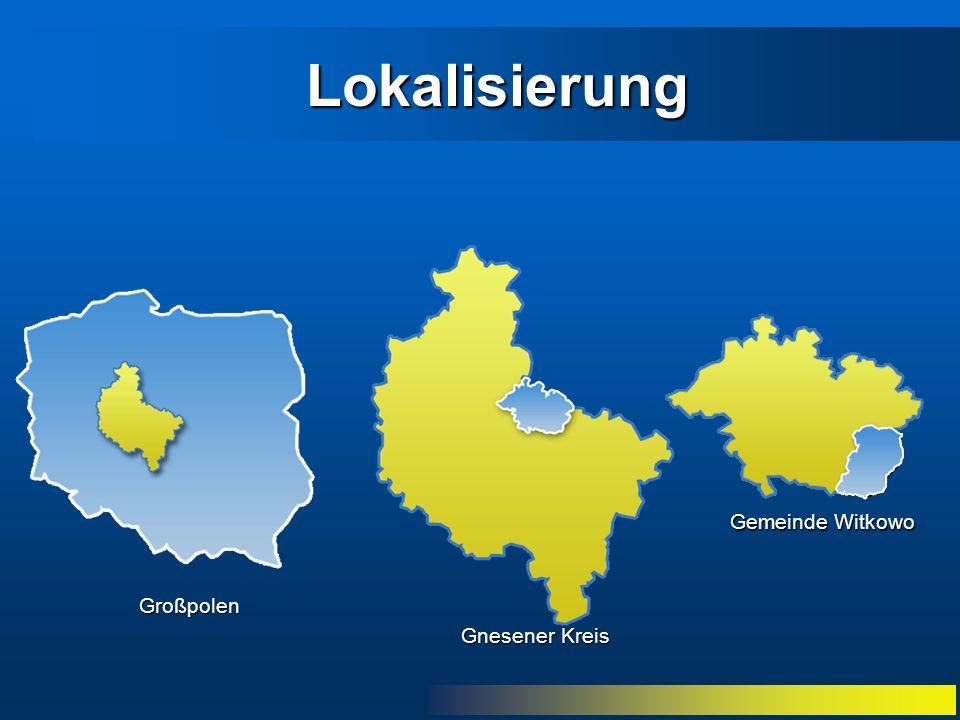 Großpolen Gnesener Kreis Gemeinde Witkowo Lokalisierung