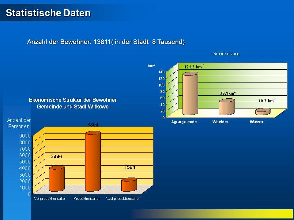 Statistische Daten Statistische Daten Anzahl der Bewohner: 13811( in der Stadt 8 Tausend)
