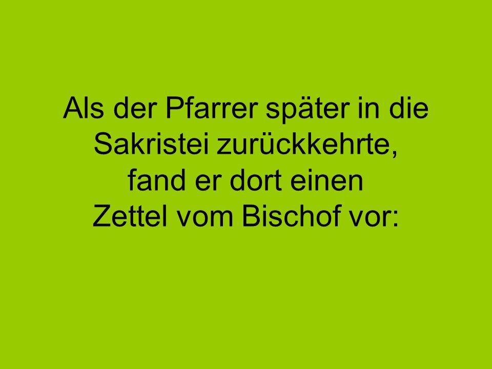 Geschätzter Pfarrer.