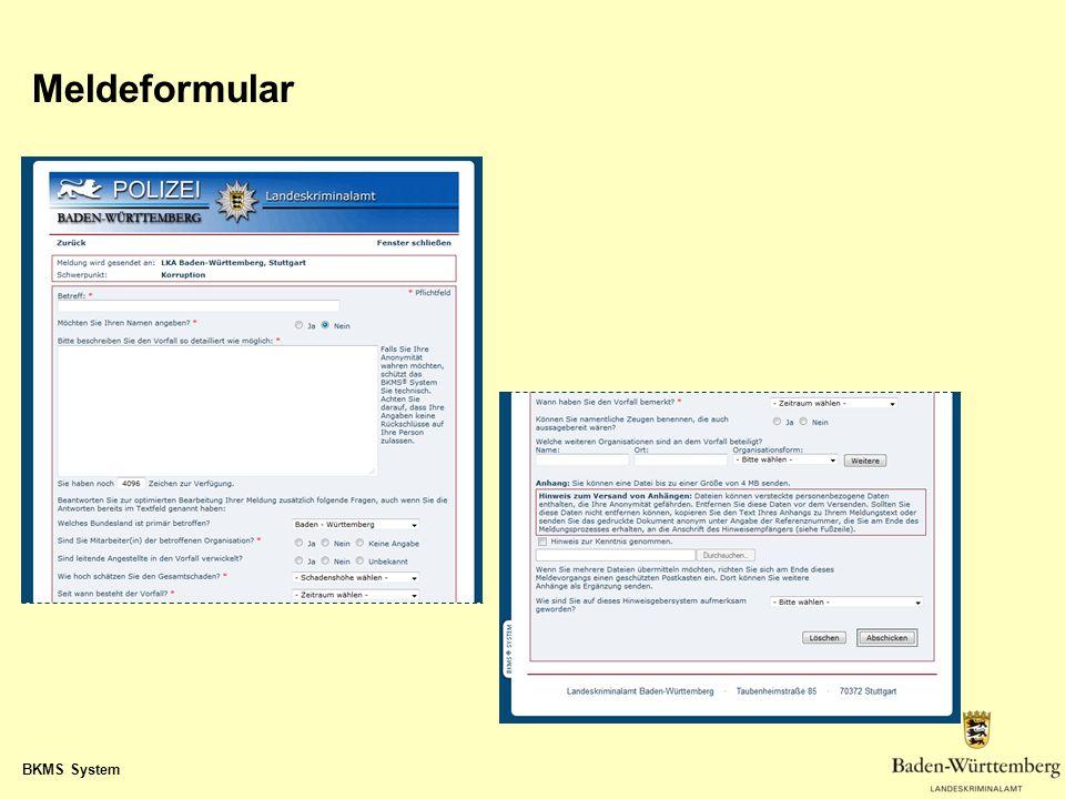 BKMS System Meldeformular