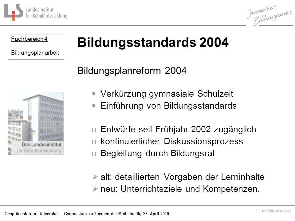 Gesprächsforum Universität – Gymnasium zu Themen der Mathematik, 28.