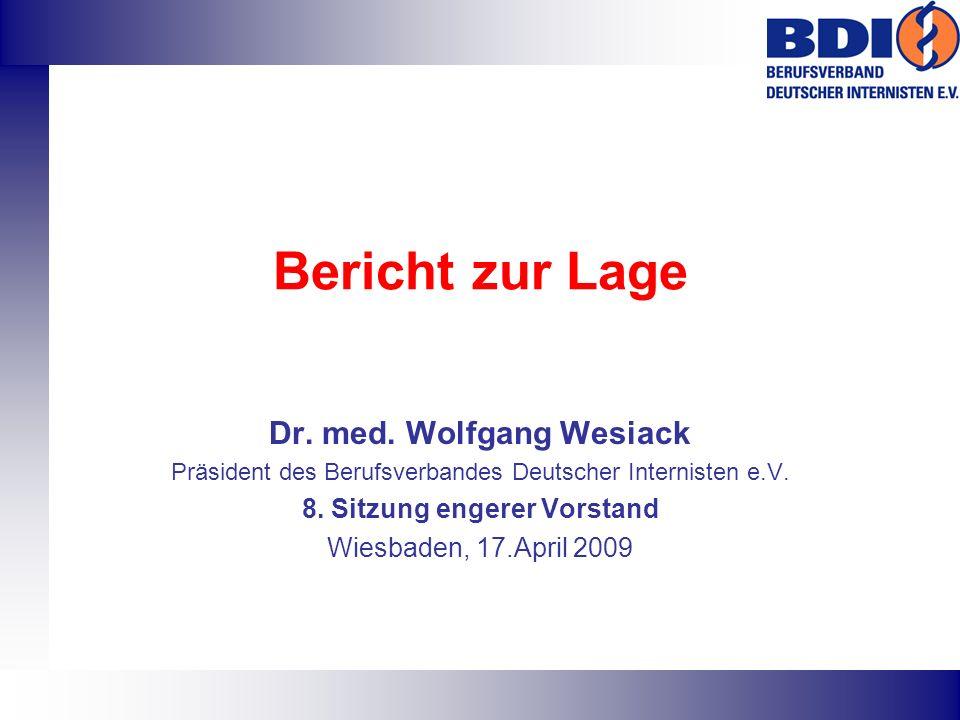Bericht zur Lage Dr. med.
