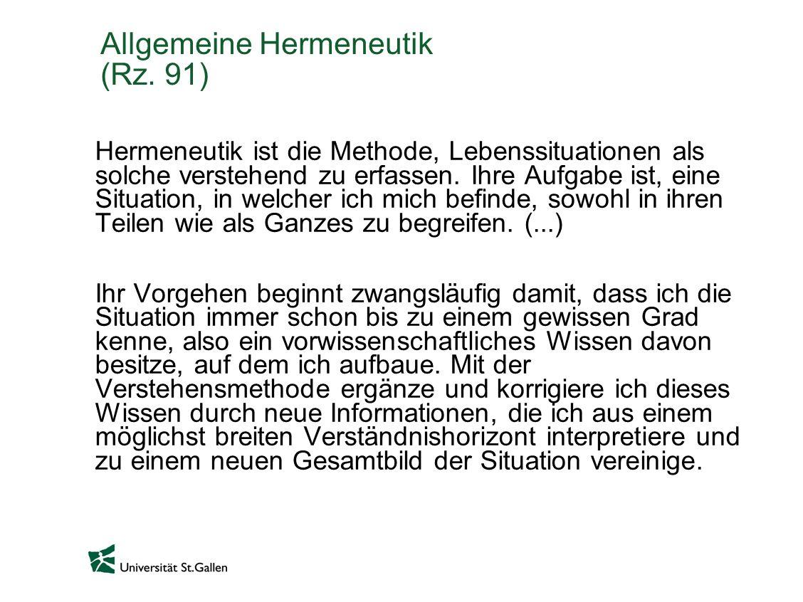 Allgemeine Hermeneutik (Rz.