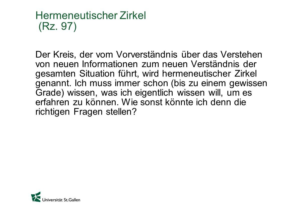 Hermeneutischer Zirkel (Rz.