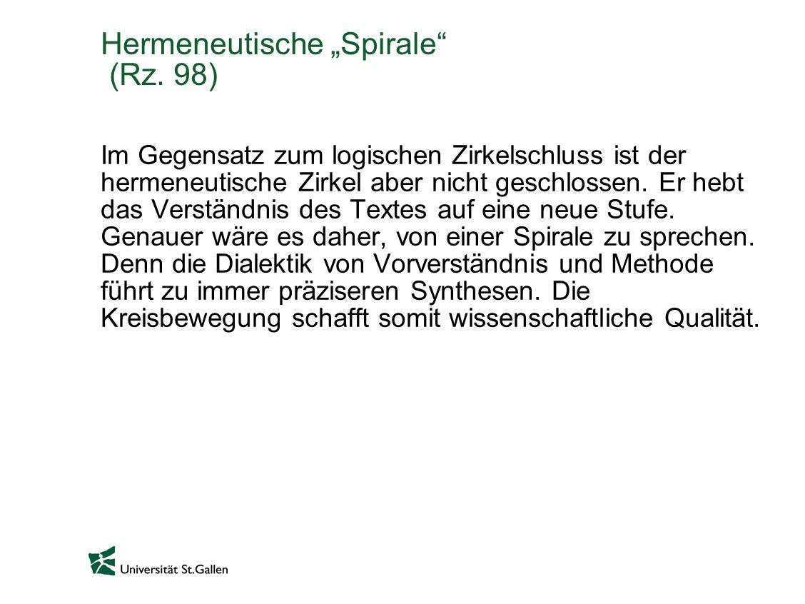 Hermeneutische Spirale (Rz.