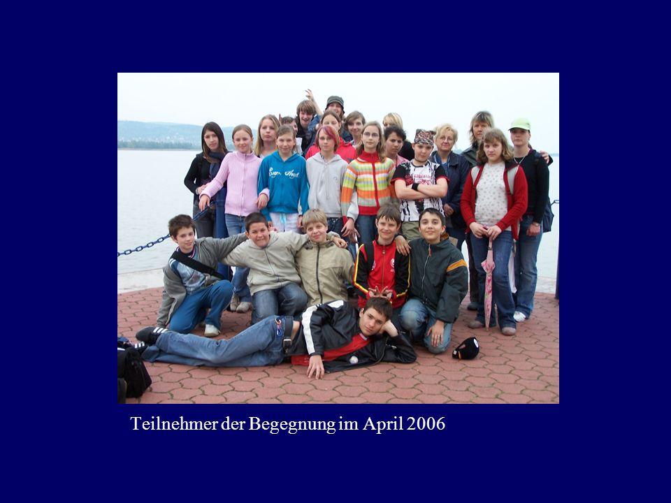 Teilnehmer der Begegnung im April 2006