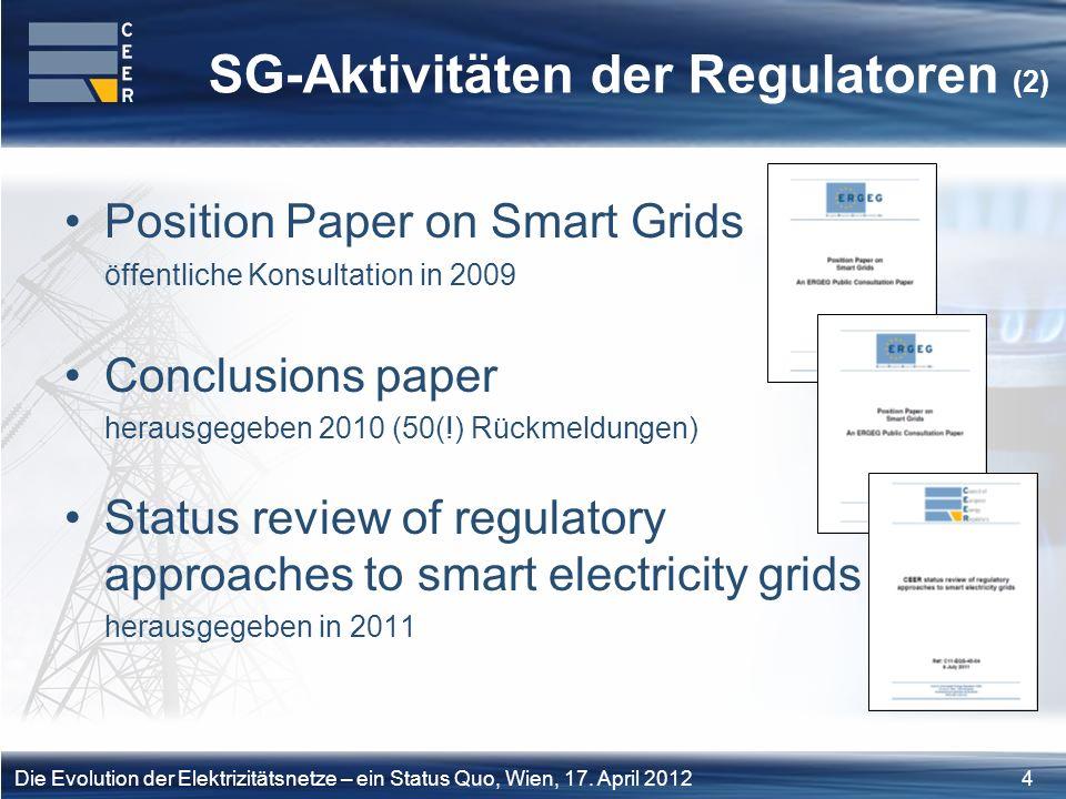 25Die Evolution der Elektrizitätsnetze – ein Status Quo, Wien, 17.