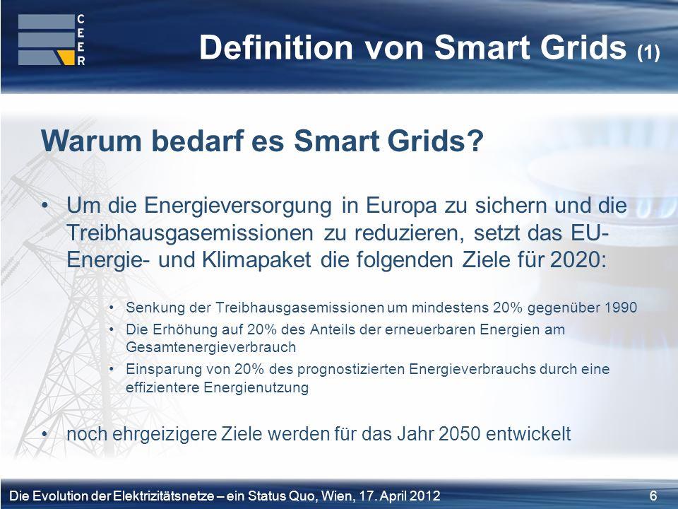 7Die Evolution der Elektrizitätsnetze – ein Status Quo, Wien, 17.