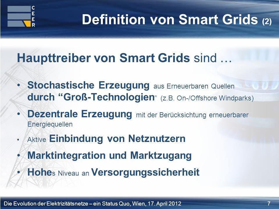 8Die Evolution der Elektrizitätsnetze – ein Status Quo, Wien, 17.