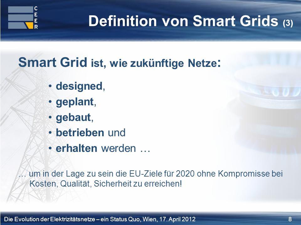 19Die Evolution der Elektrizitätsnetze – ein Status Quo, Wien, 17.