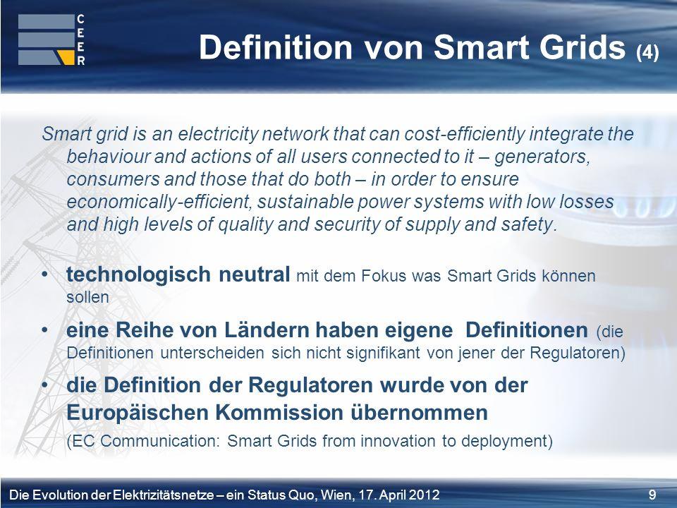10Die Evolution der Elektrizitätsnetze – ein Status Quo, Wien, 17.