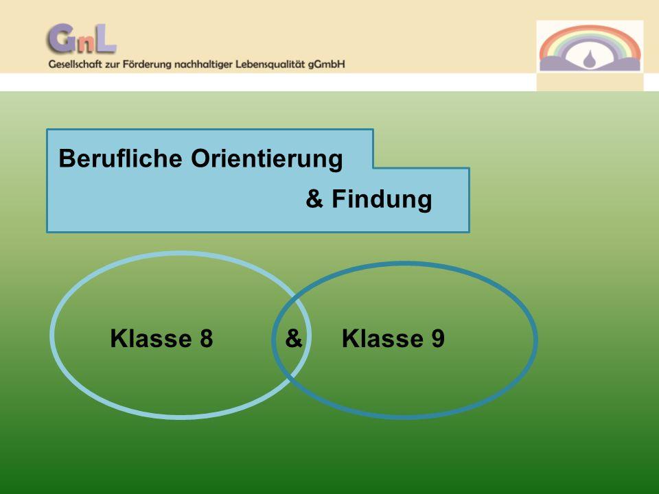 Klasse 8 Berufliche Orientierung Vom Kennenlernen zur Kompetenzfeststellung Aug.