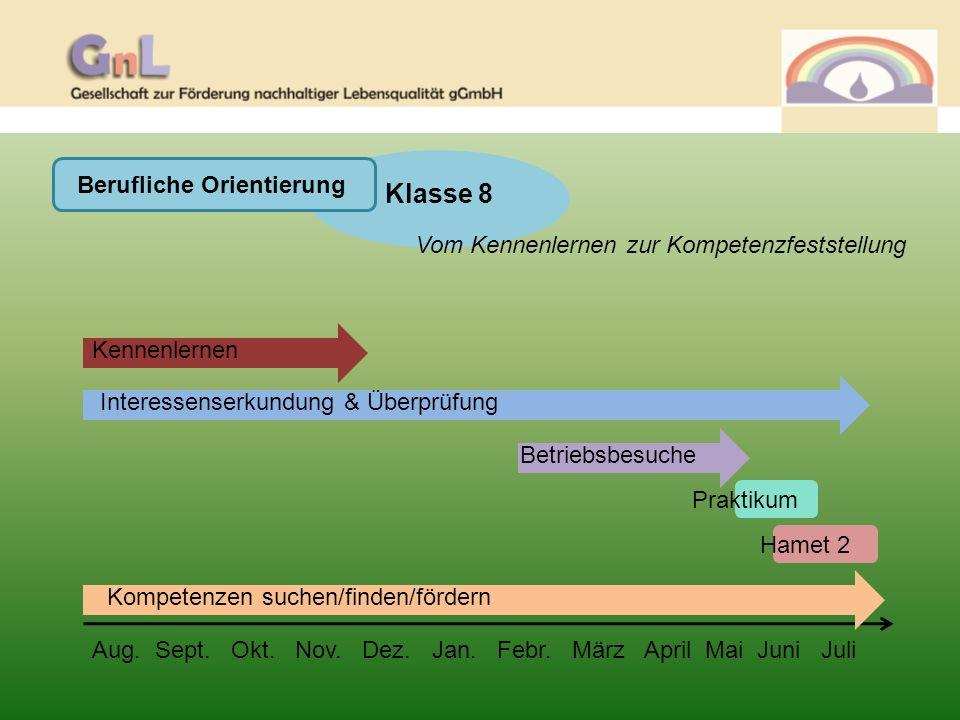 Berufliche Orientierung Klasse 9 Von der Kompetenzfeststellung zur Berufswahl Aug.