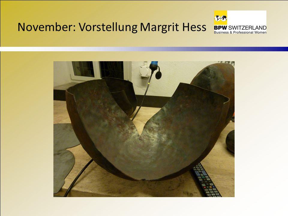 November: Vorstellung Margrit Hess