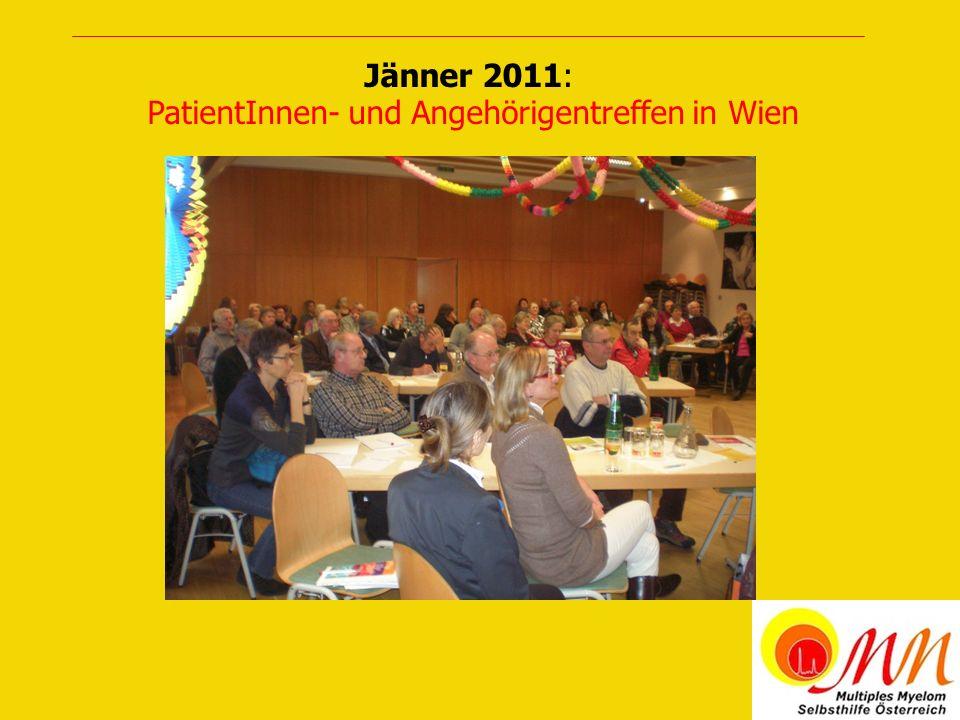 Jänner 2011: PatientInnen- und Angehörigentreffen in Wien