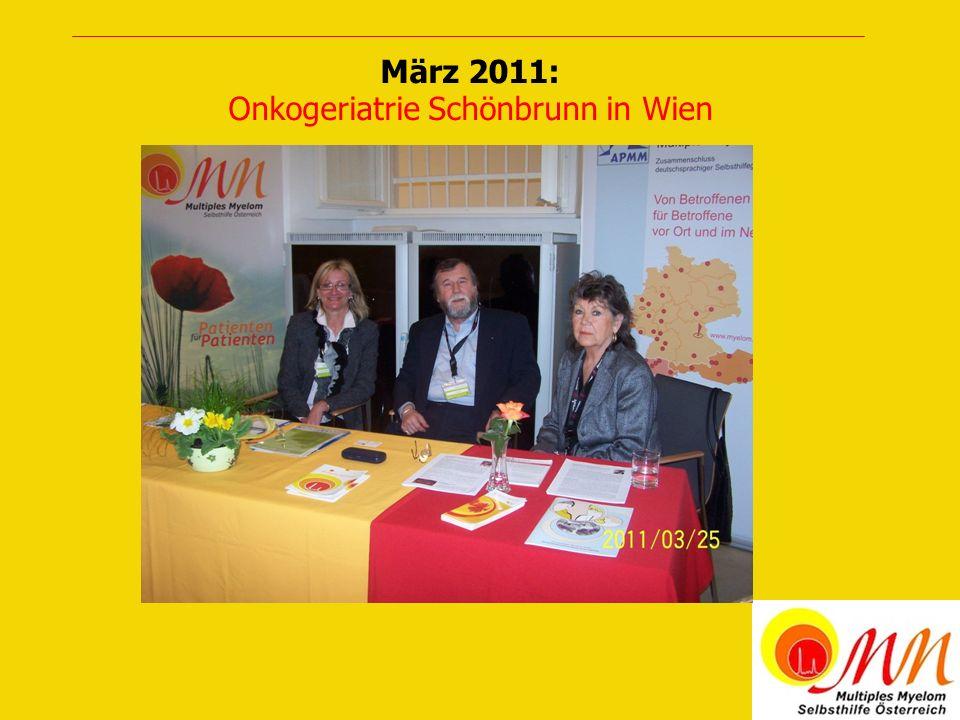März 2011: Onkogeriatrie Schönbrunn in Wien