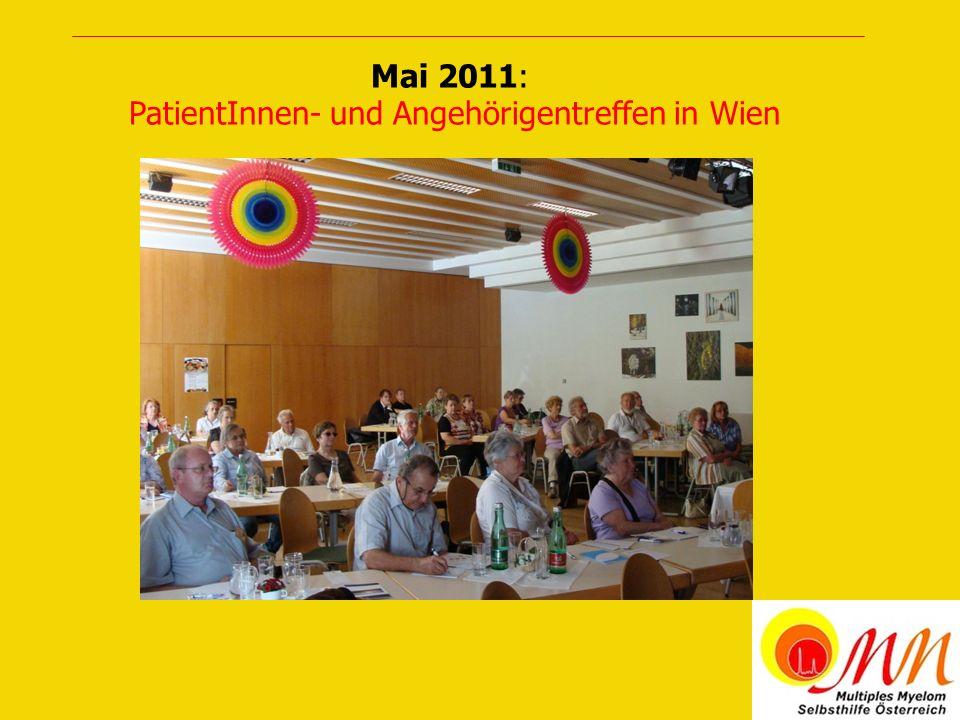 Mai 2011: PatientInnen- und Angehörigentreffen in Wien