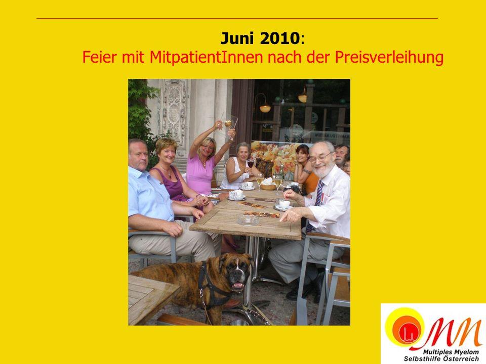 März 2011: PatientInnen- und Angehörigentreffen in Wien Mitarbeiterinnen, Dr.